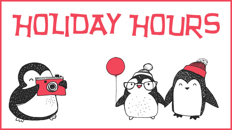 2017 Winter Holiday Hours