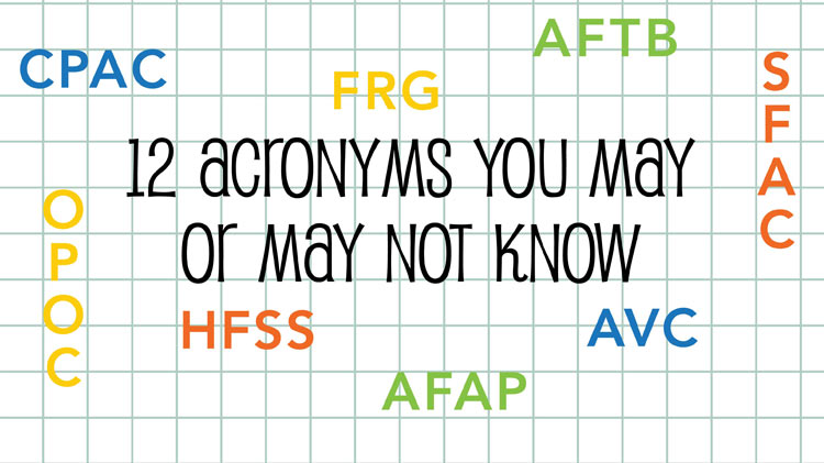 BLOG: 12 Acronyms You May or May Not Know