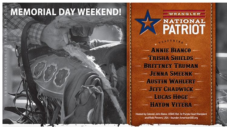 Wrangler National Patriot Tour Memorial Day Weekend!